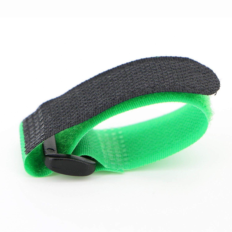 Noir AsentechUK/® Lot de 10/sangles//Attache-c/âbles /à fermeture Velcro r/églables Nylon 30 x 2cm