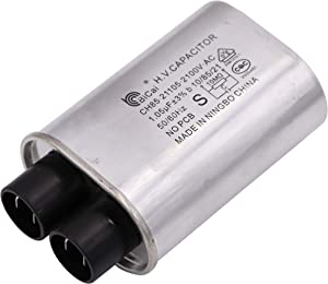 """Meter Star Microwave Capacitor Replacement 2100V 1.05uf Compatible for Amana Electrolux Ge Kenmore and Whirlpool,Connect Pin 1/4"""" Standard Terminal"""
