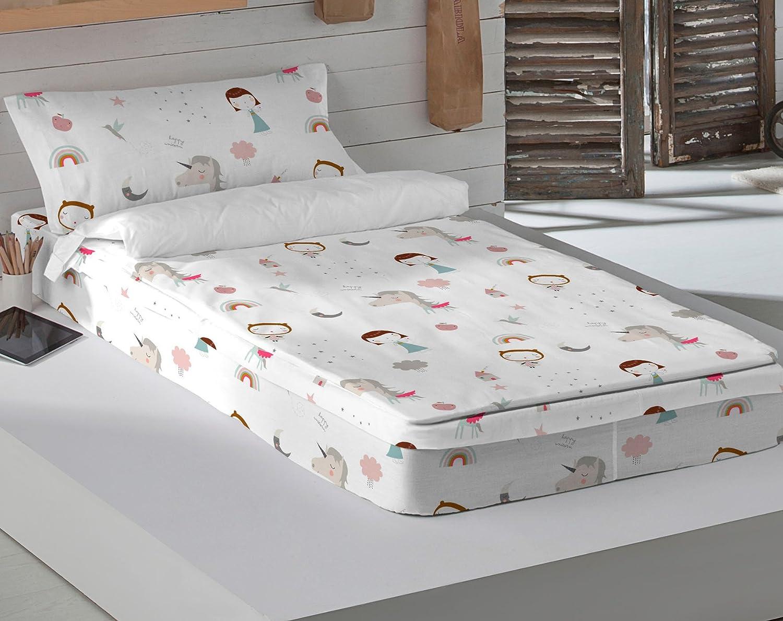 HACIENDO HACIENDO HACIENDO EL INDIO Saco Noacute;rdico con Relleno Unicorn Pink B Cama 90 cm d5a293