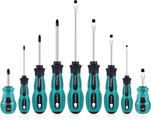 Amazon.com: Juego de 9 destornilladores magnéticos, Famistar ...
