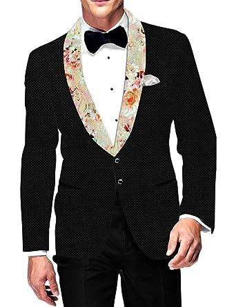 Inmonarch Mens Black Velvet Blazer Formal Wedding Vb015851