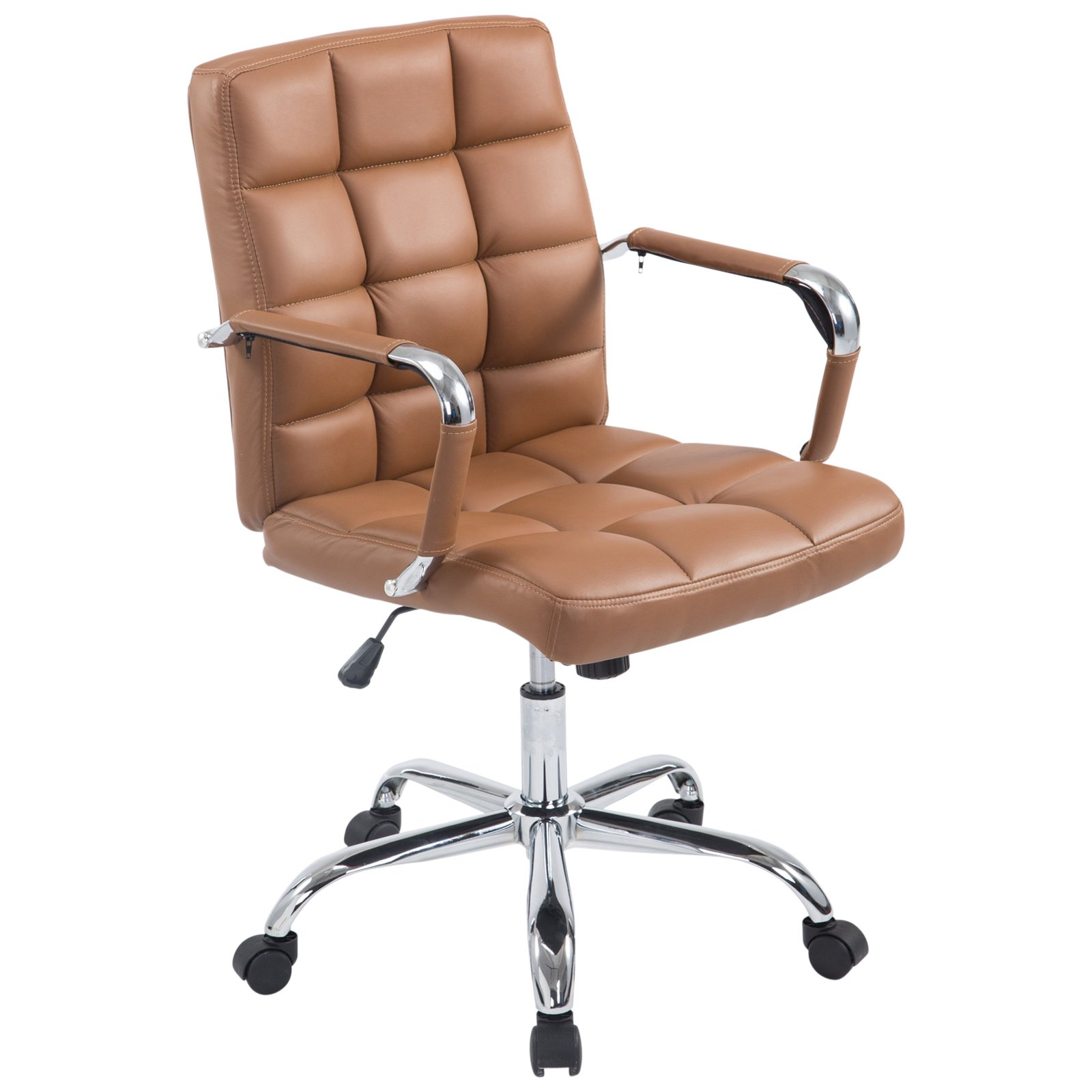 Poly and Bark EM-251-TER-A Office Chair, Terracotta