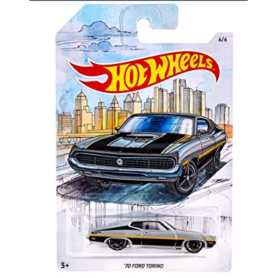 Hot Wheels '70 Ford Torino Detroit Muscle Car Series 6/6: Toys & Games
