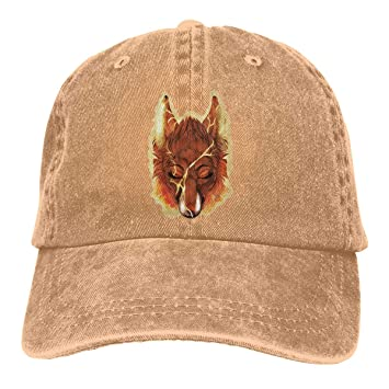 Ejdkdo Fox Flame Unisex Washed Ajustable Vintage Cowboy Hat Denim ...