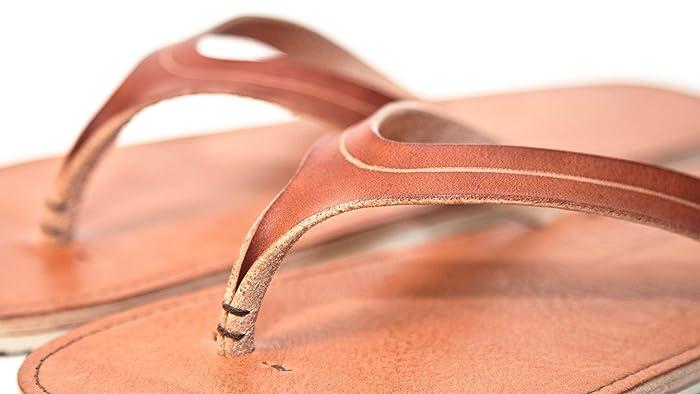 931c690f60c58 Amazon.com: Women's Leather Sandals, Flip Flops, Italian Vegetable ...