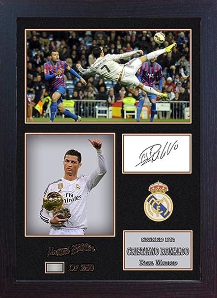 Ronaldo Photo d/édicac/ée encadr/ée Br/ésil
