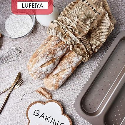 Baguette Bandeja para hornear (para 3 baguettes) Molde para pan de ...