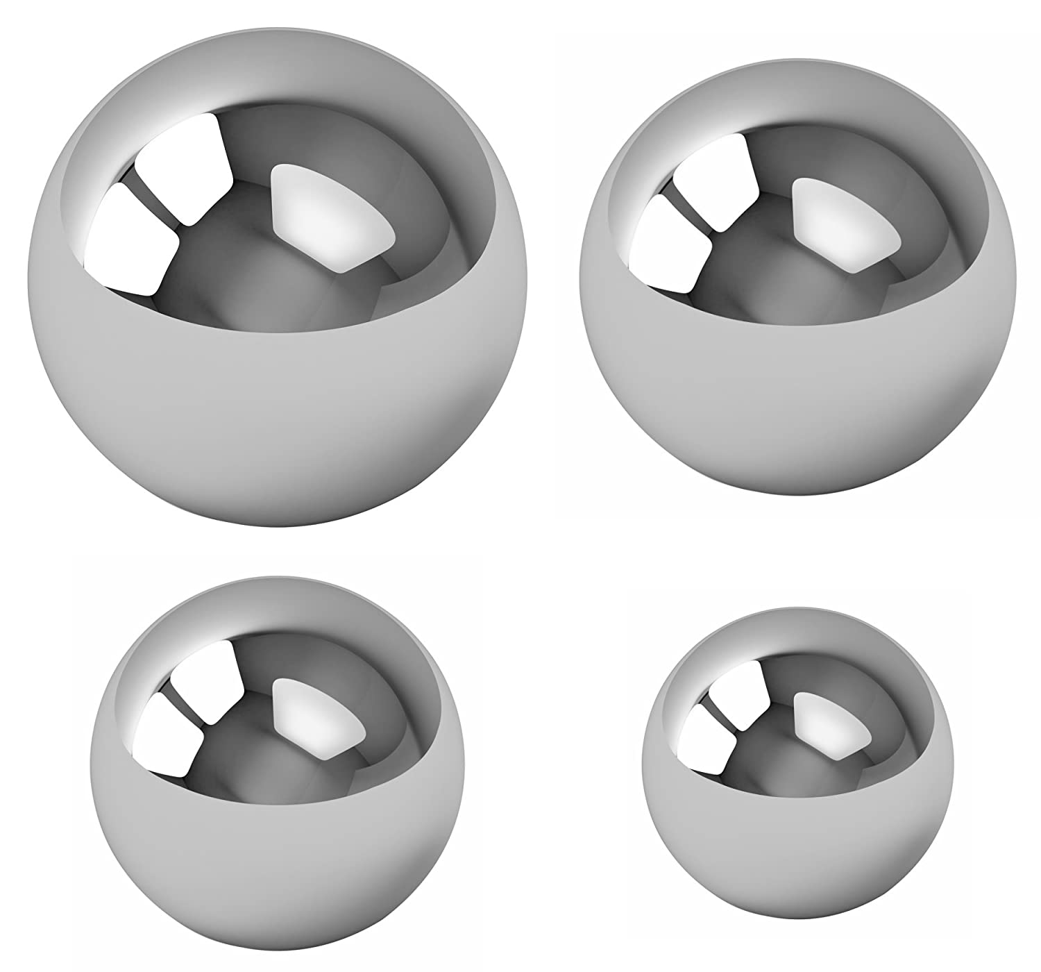 Assorted Coin Ring Making Forging Steel Balls - Assortment Of 1', 7/8', 3/4' and 5/8' 7/8 3/4 and 5/8 BC Precision BCRASST