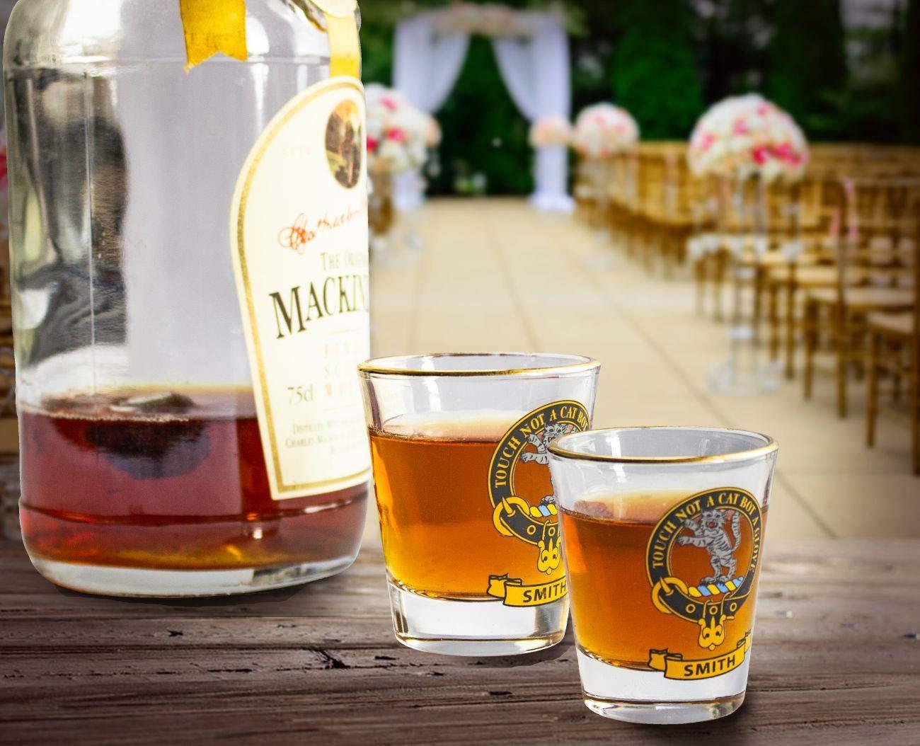 I Luv Ltd Verre /À Shot Wee Dram Hay Clan Gold Crest Rim Ensemble de 2 Tots Whisky