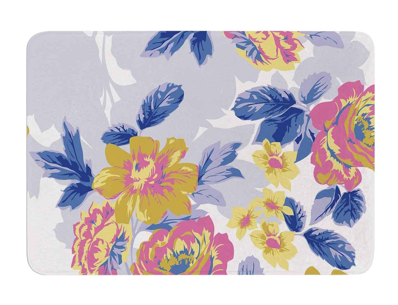 17 by 24-Inch 17 X 24 Kess InHouse Gukuuki Royal Garden Multicolor Yellow Memory Foam Bath Mat