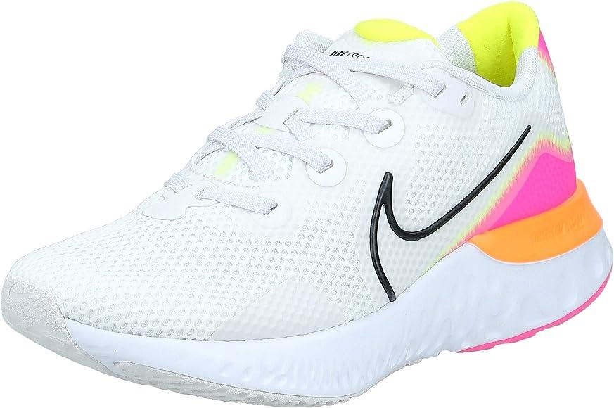 Nike Wmns Renew Run, Zapatilla de Correr para Mujer, Tinte Platino/Blast/Black/Pink Blast, 40.5 EU: Amazon.es: Zapatos y complementos
