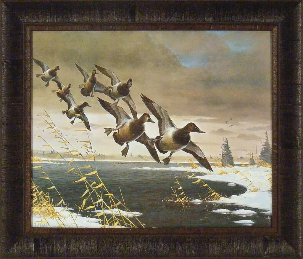 Jim Hansel Evening Splendor Mallard Lake Print  9 x12