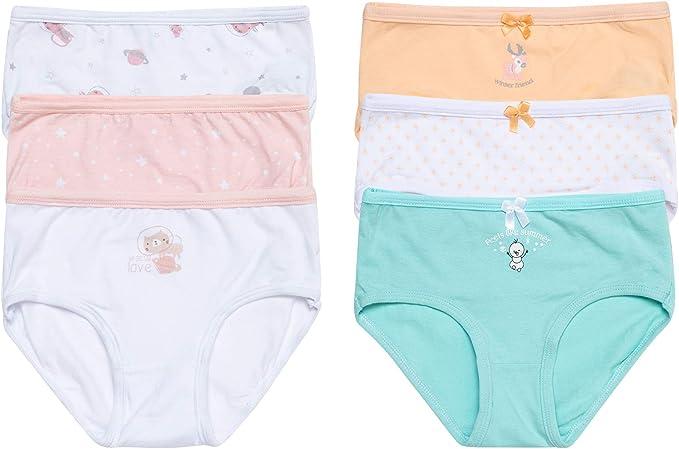 Channo Braguitas niñas algodón días de la Semana. Tejido Suave y cómodo.: Amazon.es: Ropa y accesorios