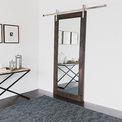 Madera puertas correderas herrajes de acero inoxidable antigua puerta corrediza ruedas, plateado: Amazon.es: Bricolaje y herramientas