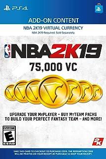 Amazon com: NBA 2K19: 75000 VC Pack - PS4 [Digital Code]: Video Games