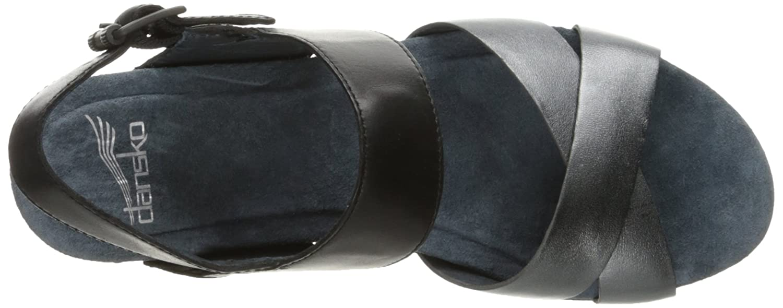 Dansko Women's Stasia Platform Sandal B01HHPKF96 42 EU/11.5-12 M US Black/Pewter Burnished