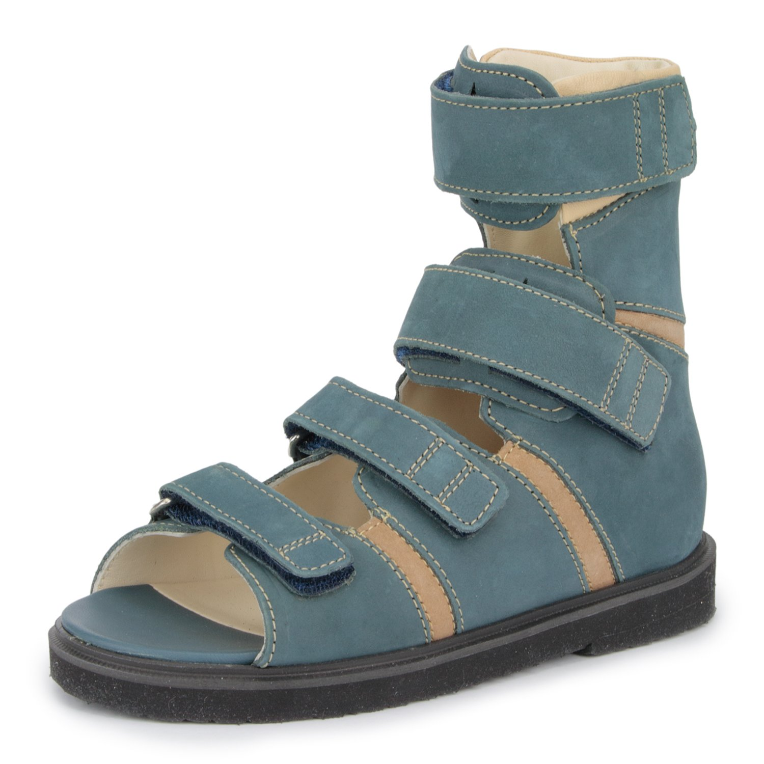 Memo Basic 1CH Suede CP Kids AFO Brace Sandal, 12.5 Little Kid M (30) by Memo (Image #1)