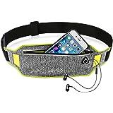 iPhone 8 Running Belt iPhone 7 plus Waistband Sweatproof Running Pouch Belt for iPhone 6 Running Belt Fanny Packs for Women & Men, Reflective Waist Pack Belt