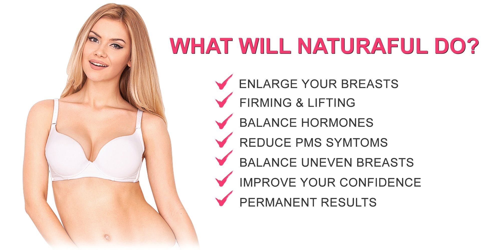 NATURAFUL - (5 JAR SUPPLY) TOP RATED Breast Enhancement Cream - Natural Breast Enlargement, Firming and Lifting Cream | Hormone Balancing, Made from Plant Extracts, Trusted by Over 100,000 Users by Naturaful (Image #4)