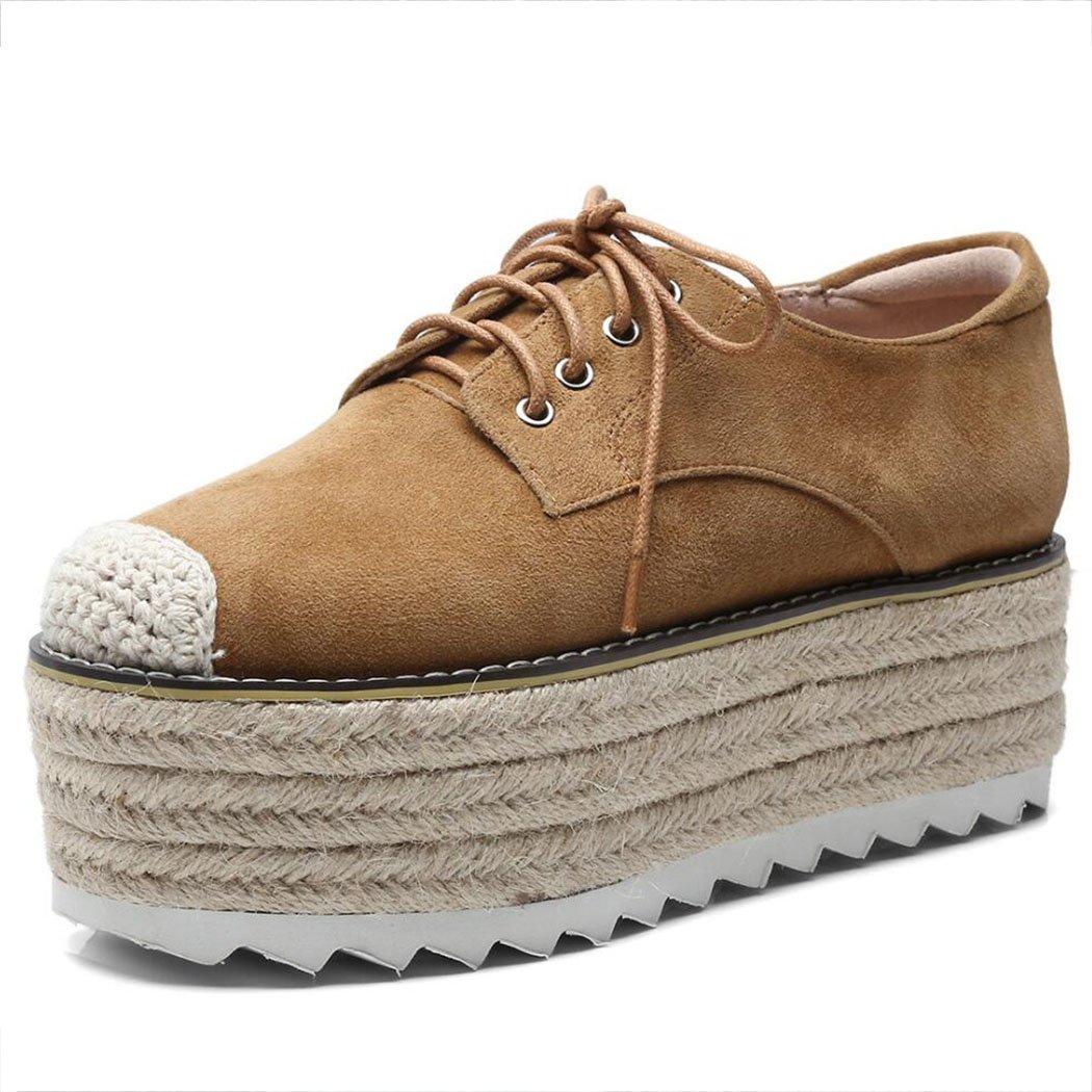Zapatos de Mujer Tacones Altos Muffin Cabeza Redonda con Zapatos de Mujer Zapatos Planos Ocasionales Mocasines Zapatos de Pescador al Aire Libre: Amazon.es: ...