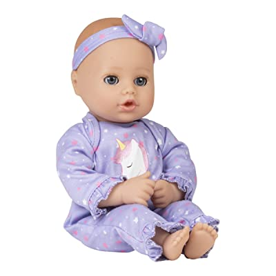 Adora Playtime Baby Doll Unicorn Glitter, 13 inch Soft Doll, Open/Close Eyes, Best Baby Girl Gift for Age 1+: Toys & Games