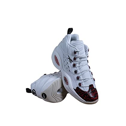 4abefc0e428 Reebok V67907 Men Question MID Prototype Sneakers White RED Black