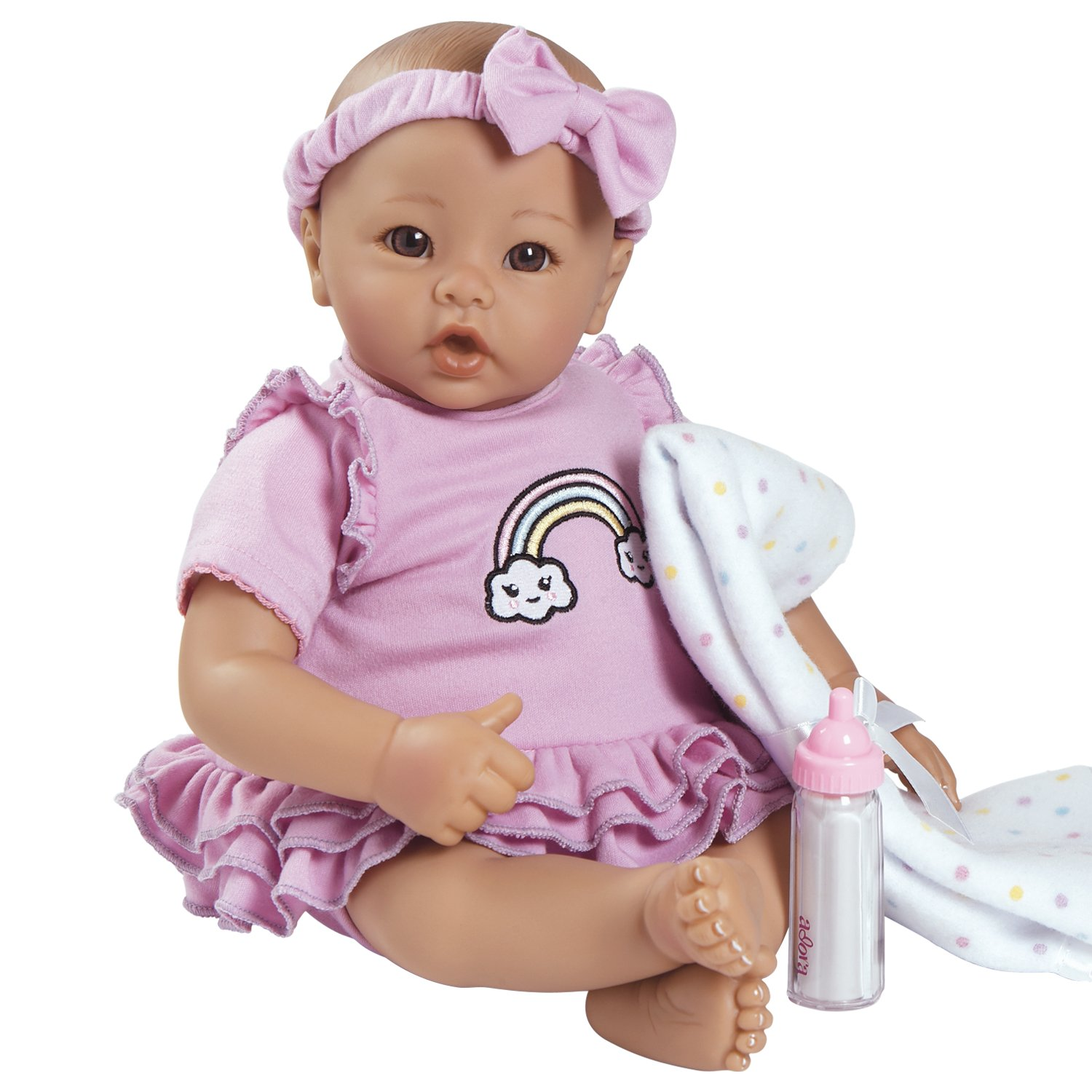 """Amazon Adora BabyTime Lavender 16"""" Girl 3 Piece Weighted Play"""