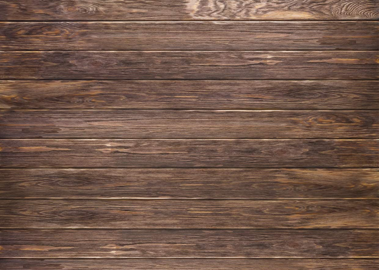 LYWYGG 10x8ft Thin Vinyl Brown Wood Backdrop Photographers Retro Wood Wall Background Cloth Seamless CP-19-1008