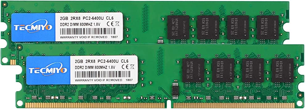 For Hynix 4GB Chips 2X 2GB PC2-6400 DIMM Memory RAM DDR2 800mhz DIMM Intel Kit