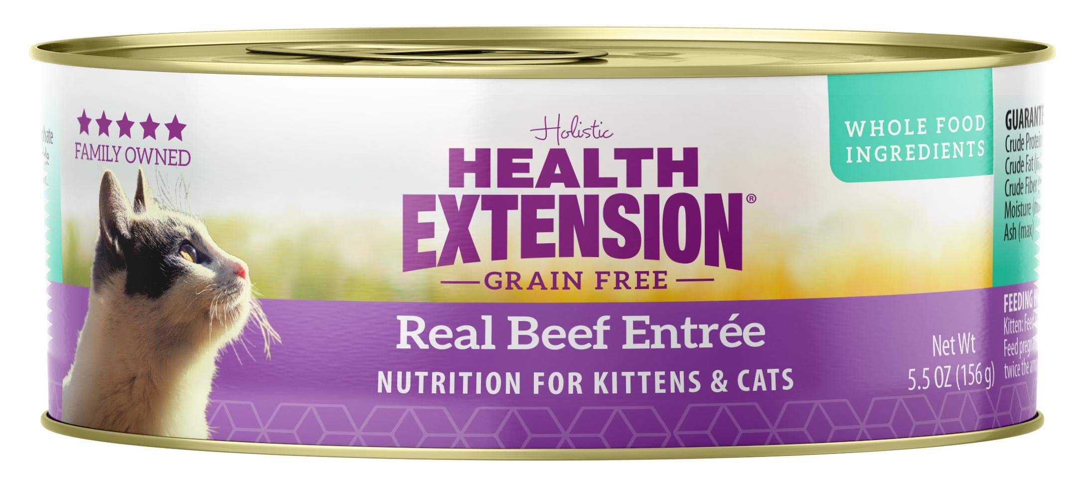 Health Extension Grain Free Beef Entree Canned Wet Cat Food - (24) 5.5 Oz Cans by Health Extension