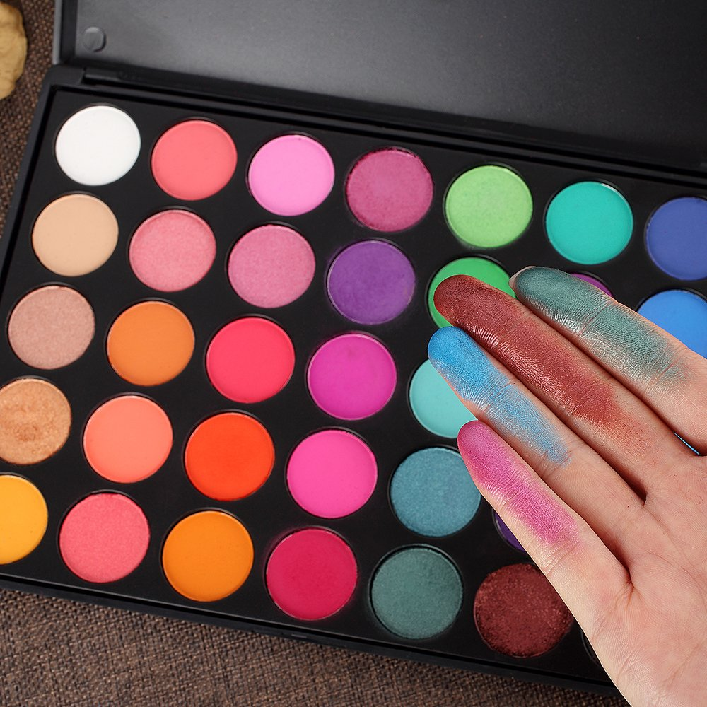 Amazon Eyeshadow Palette 35 Bright Colors Matte Shimmer