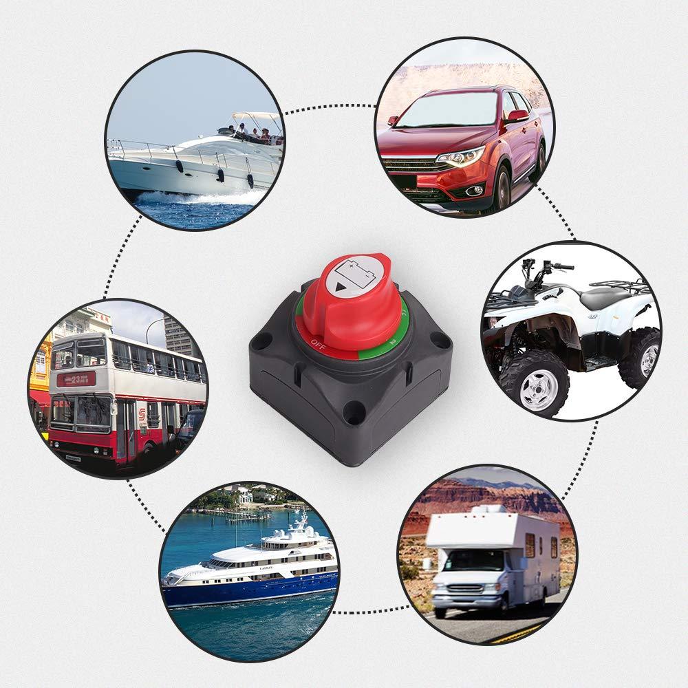 ZMunited Battery Disconnect Switch 6V 12V 24V 48V 60V Battery Isolator Switch Battery Cut Off Switch for Marine Boat Car Rv ATV Vehicles