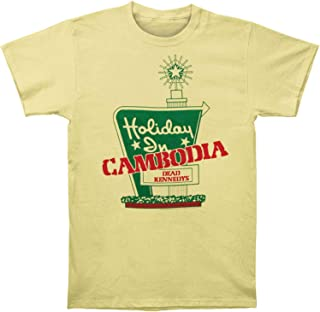 Impact Dead Kennedys Punk Rock Band Holiday In Cambodia Adult Fitted Jersey T-Shirt Tee Yellow