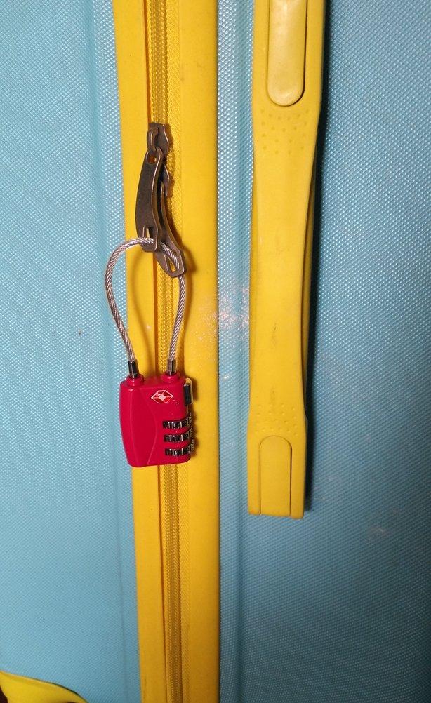 TSA Accepted Cable Luggage Lock TSA Luggage Locks-3 Digit Combination Padlocks blue