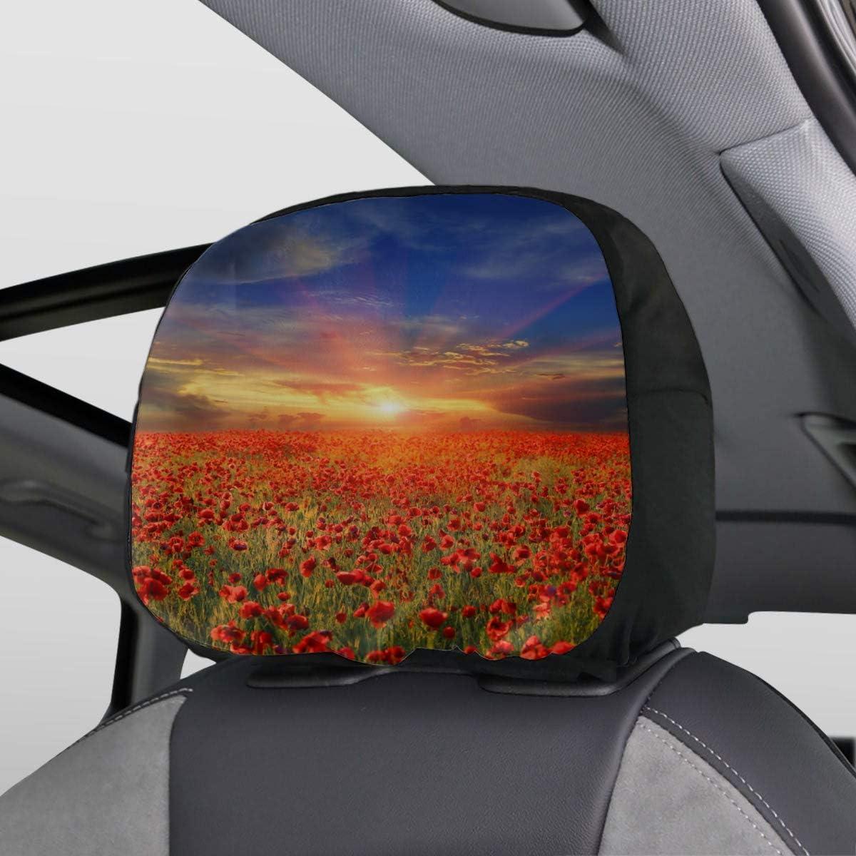 SUV TOADDMOS 1 par de fundas para reposacabezas de coche furgoneta cami/ón con estampado de girasoles You are My Sunshine universal para asiento de coche