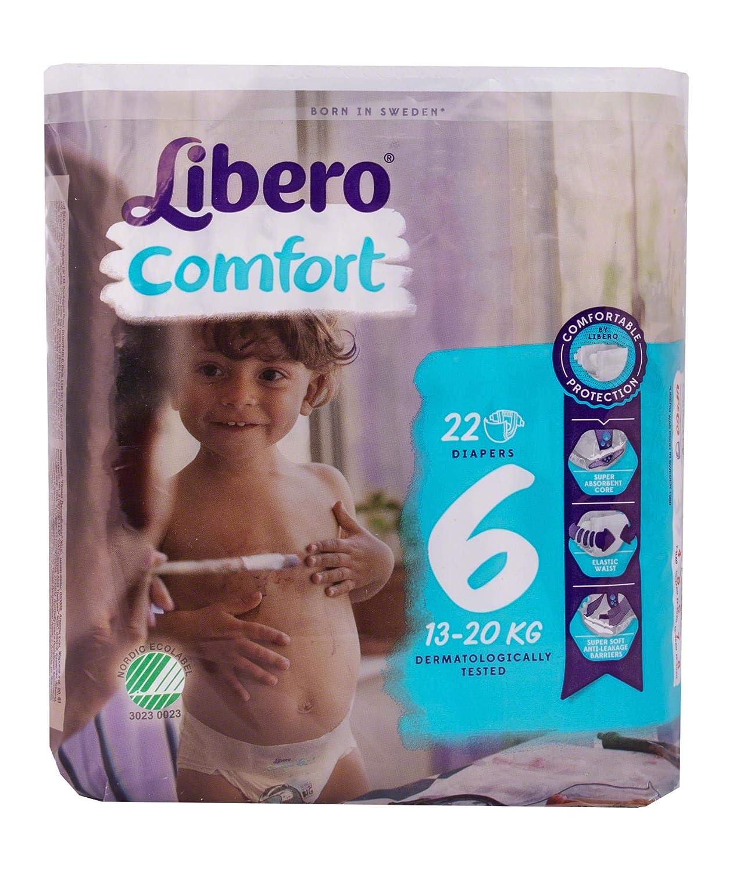 tama/ño 6 pa/ñales paquete de 22 Libero Comfort