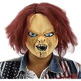 shuzhen,Mascara de Latex de Terror para niños Jugar Chucky Figuras de acción Masquerade Halloween
