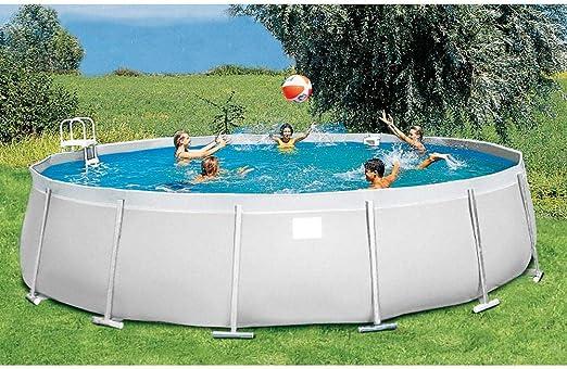 Piscina fuera Terra ø600 cm H130 CM New Plast Milos 600 Kit Arena ...