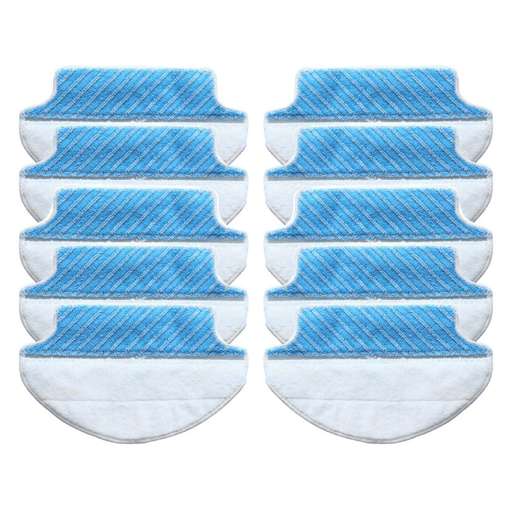 Dry And Wet Microfiber Mop Pad Mop Replacement Cloth For Ecovacs Deebot Robot DN78(Water Tank Version) DM80 DM80 Pro DM81 DM85S DM88 DR95 DR96 DR98 Slim Slim2 Robotic Vacuum Cleaner (Pack of 10)
