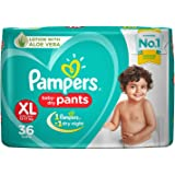 Pampers New Diapers Pants with Aloe Vera, Extra Large, (36 Count)