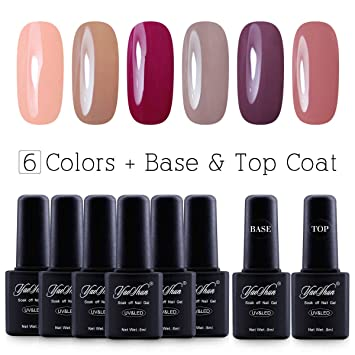 Amazon.com : Soak Off Gel Nail Polish - UV Led Y&S 8ml 8Pcs/lot ...