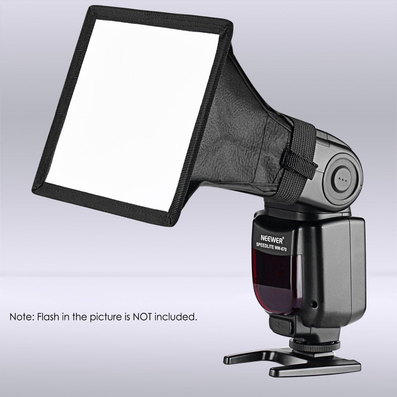 Neewer 3-Tama/ño Speedlite Flash Difusor Luz Softbox Neewer 15 /× 12,5 21 /× 16 Nikon 30 /× 20 Cent/ímetros para Canon Youngnuo y Otros Flash En C/ámara o Fuera de C/ámara con Estuche de Transporte