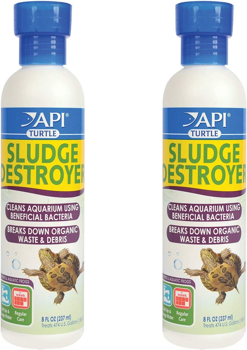 API Turtle Products: Sludge Remover to Clean Aquarium, Water Conditioner to Make Tap Water Safe for Turtles, TURTLEFIX Reme - 2 Pack