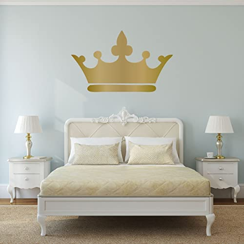 Perfect Princess Wall Art Decals Crown Pink, Gray, Gold, Silver   Home Decor For