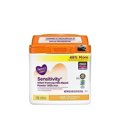 Parents Choice Sensitivity Powder Infant Formula with Iron, 33.2oz
