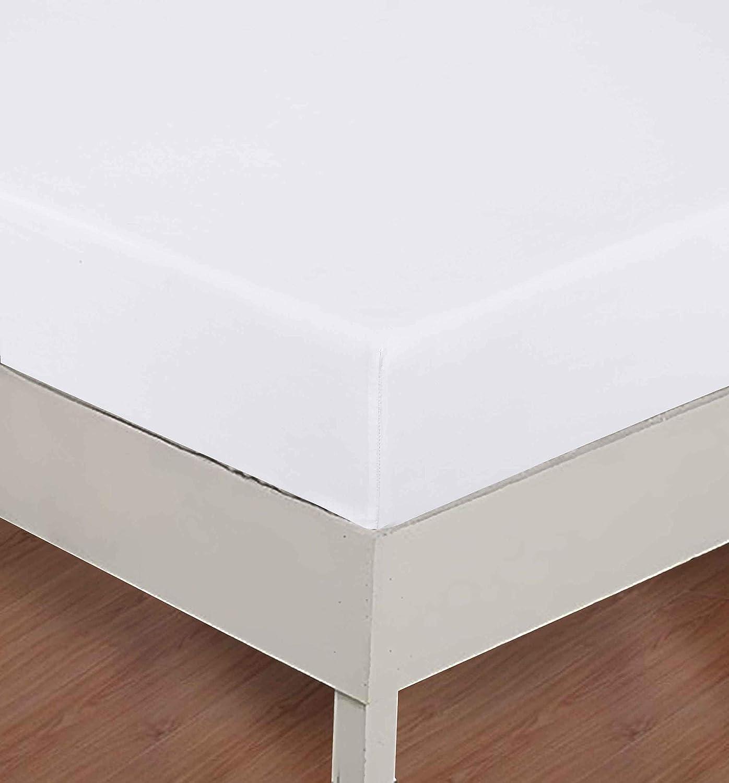 40 cm 100/% Coton Blanc CHF Drap-Housse Rose 90 x 190 90X190+40CM