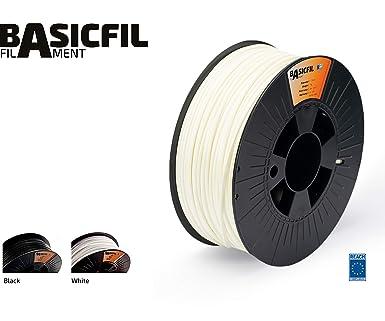 BASICFIL ABS 1.75mm, 1 kg filamento de impresión 3D, Blanco ...