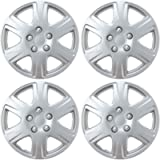 BDK HK993 Silver 15' Hubcaps Wheel Covers for Toyota Corolla (15 inch) – Four (4) Pieces Corrosion-Free & Sturdy – Full…