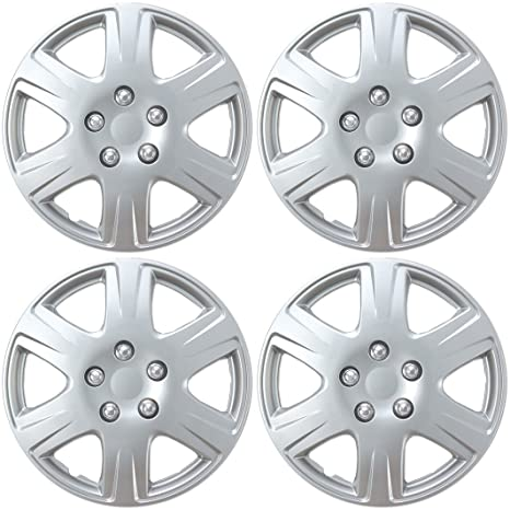 "BDK Toyota Corolla estilo Tapacubos 15 ""rueda cubierta – cubierta plateada de réplica,"
