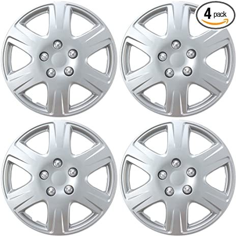 "BDK HK993 15"" Silver Hubcaps Wheel Covers for Toyota Corolla (15 inch) –"